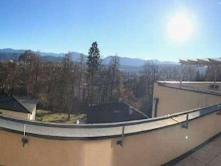Klagenfurt/Kreuzbergl: Stadt-Berg-Fernblick Penthouse auf 2 Ebenen mit riesigen Terrassen + 2TG