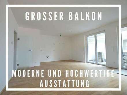 Neubau Balkon-Wohnung | 62m² WFL+21m² Balkon | Top 10