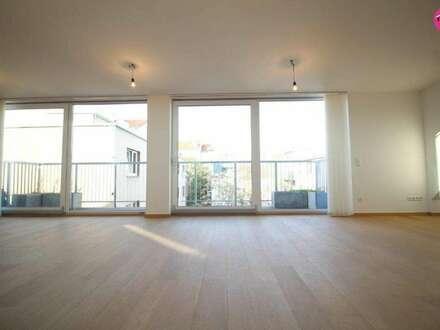 Luxuswohnung mit 100m² Dachterrasse & Garagenplatz inkludiert!+++kaum Schrägen & Wohnbereich auf einer Ebene+++