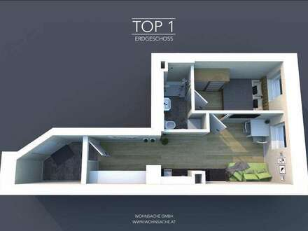 Neubau Stadtvillenwohnung | 32m² WFL | Top 1 Erdgeschoss | Optimierter Grundriss