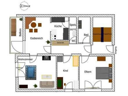 günstige 3 ZI-Wohnung im Privathaus