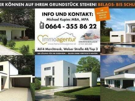Bungalow Aktionshaus 105 Ziegelmassiv, BAUMEISTERHAUS 50cm Ziegel- TOPAUSSTATTUNG + Garage + Carport