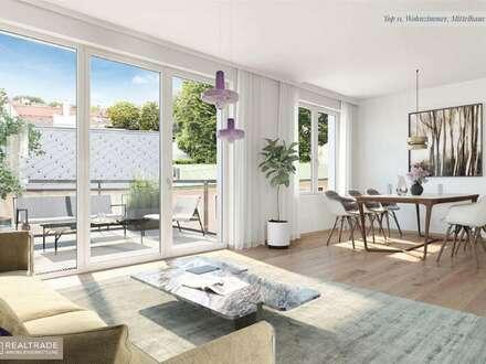 WINZENZ - Exklusive 3-Zimmer Wohnung mit sonnigem Balkon am Fuße des Nussbergs