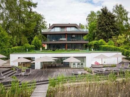 Wörthersee Nordufer - Villenetage in Luxusvilla mit Bootsliegeplatz | Wörthersee North Shore - Lake front apartment with…