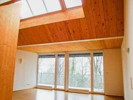 Dachgeschoss-Wohnung mit großem Balkon - 2-Zimmer Pärchen-Traum - Mit eigenem Parkplatz und Zugang zum Schlosspark.