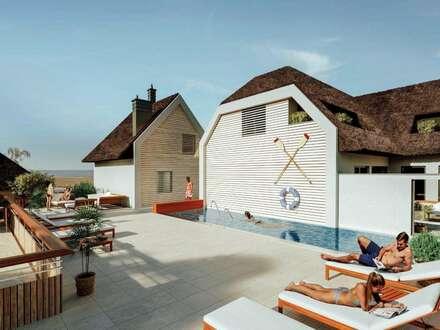 Rarität mit Seezugang zu kaufen!: exklusive Ferienhäuser und Ferienapartments im Seepark-Weiden am Neusiedler See mit Schwimmbecken…