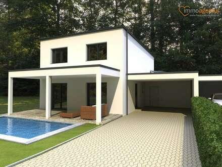 Architektenhaus plus Grundstück mit Traumaussicht, Ziegelmassiv, Topausstattung, belagsfertig+ und vieles mehr..