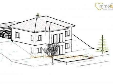 Architekten-Hanghaus inkl. Grundstück über den Dächern von Kematen an der Krems mit traumhaftem Gebirgsblick, Ziegelmassiv,…