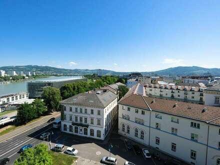 Arbeiten über den Dächern von Linz