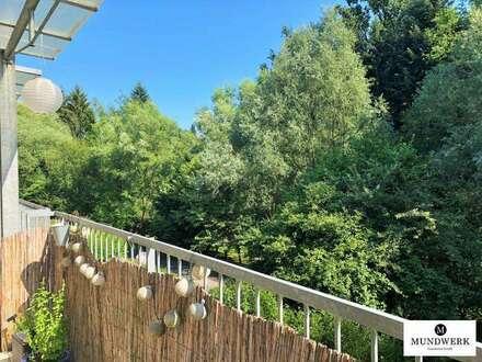 Ragnitz: Sonnige 1 Zimmer Wohnung mit Blick ins Grüne - Balkon