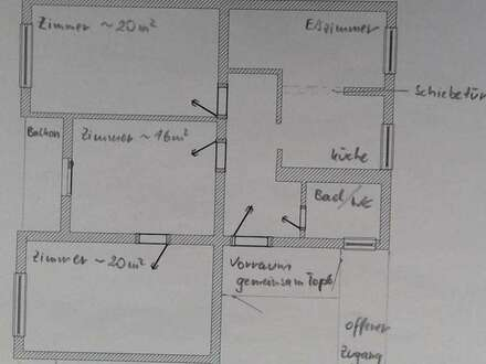 3 Zimmer WG Wohnung 93qm in Pradl