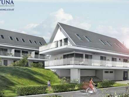 """""""PLATZHIRSCH"""" Modernes Neubauprojekt: Traumwohnung in Traumlage! 3-Zimmer, Balkon und Garten! Nur 5 Min. von Graz."""