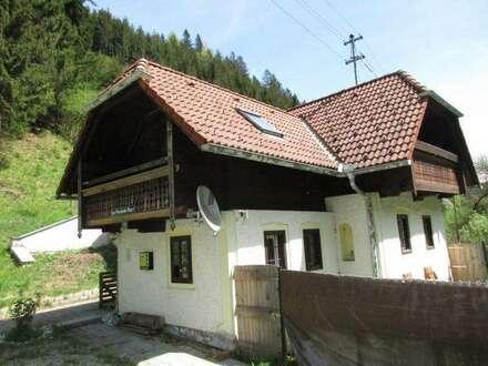 Idyllisches Haus mit Wald und Wiese