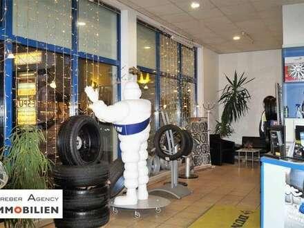 Reifenhandel und Werkstatt mit Bistro in Top-Lage