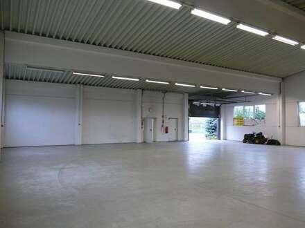 Große Halle mit LKW Rolltoren (nur Halle I). Industrieboden. Teilbar.