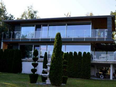 Architektenvilla Niedrigenergiehaus mit Fernblick am Waldrand