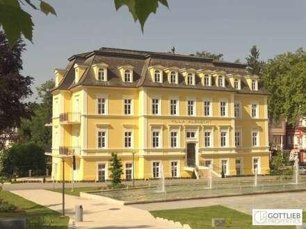Ausserwöhnliche 4-Zimmer-Erstbezugs-Dachgeschoss-Wohnung mit Panoramaterrasse in historischer Villa in Bad Gleichenberg