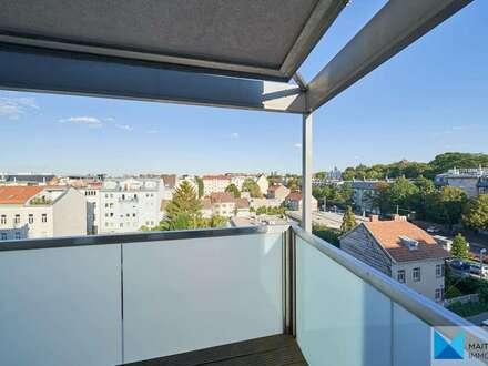 Sehr gepflegte, geräumige Dachgeschosswohnung mit Terrasse & Fernblick | Garage optional |nahe Sonnbergmarkt / Obkirchergasse