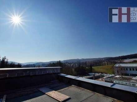 Provisionsfreier Erstbezug! Schöne 3 Zimmer-Wohnung im Eigentum, herrliche 100m² Dachterrasse, Fernblick, schlüsselfertig!