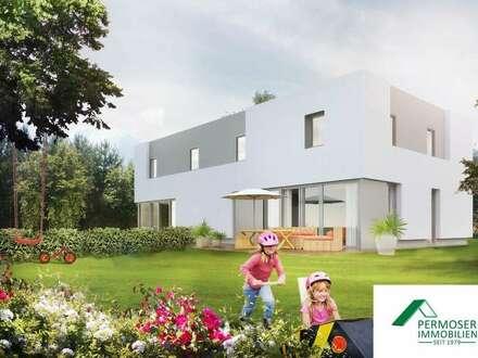 moderne Doppelhaushälfte in Niedrigenergiebauweise