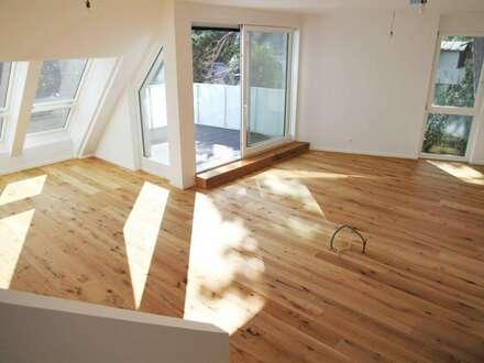 92 m² PARTYDACHGARTEN (SÜD WEST) + 2 Terrassen + Balkon! NEUBAUERSTBEZUG in Grünruhelage!