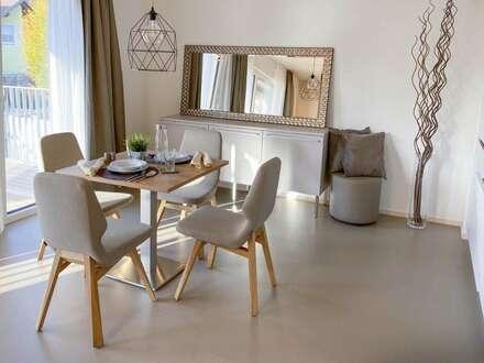 2-Zimmer Gartenwohnung in innovativem Holzmassivhaus