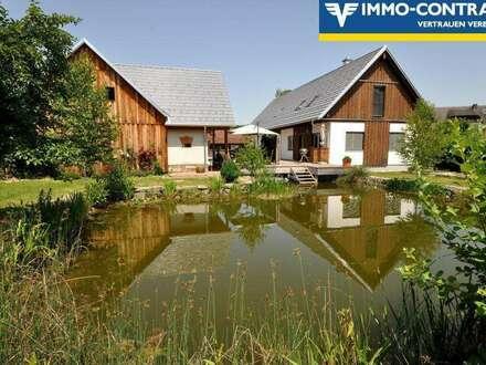 Ein Lebensparadies, auch Pferdehaltung erlaubt, kernsaniert, mit Schwimmteich im schönen Vulkanland der Steiermark