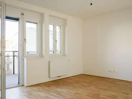 Erstbezug nach Generalsanierung: Hofseitige 2-Zimmer-Neubauwohnung mit Balkon