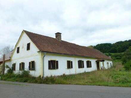 Sonniger Baugrund mit Bauernhaus