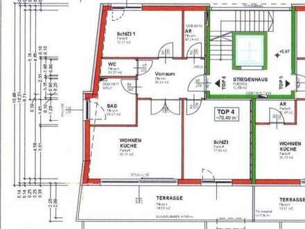 3 Zimmerwohnung im Dachgeschoss mit Lift !!