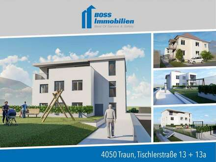 Baubeginn in Kürze | Familientraum im 1.Obergeschoss mit privatem Garten - Tischlerstraße 13, Traun