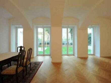 Gartenwohnung über 2 Etagen! Wohnen und Arbeiten in Einem möglich! Hochwertig saniert! Nähe Belvedere!