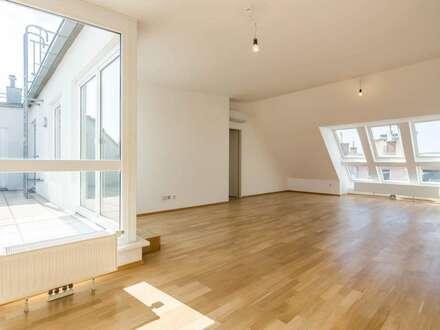 ++VIDEOBESICHTIGUNG++ Fantastischer 4-Zimmer DG-Erstbezug mit 30m² Dachterrasse, BESTLAGE in 1080!