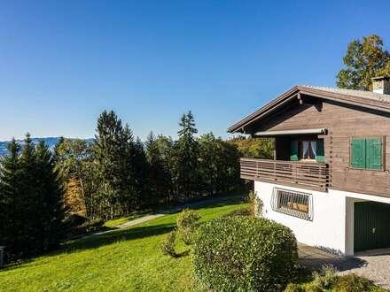 Ferienhütte mit Blick über das Rheintal zu vermieten
