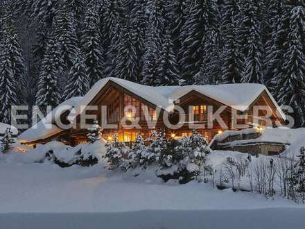 W-02B125 Log-House mit Panoramablick an der Skipiste