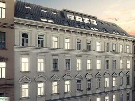 FAMILIENTRAUM in Mitten des 8. Bezirkes ! ALTBAU-JUWEL 4 Zimmer Stilaltbauwohnung mit 8 m² Balkon ( Top 14: ca. 98,17m² +…