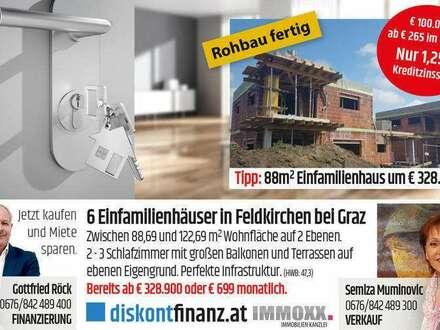 6 neue Einfamilienhäuser in Puntigam/Graz!
