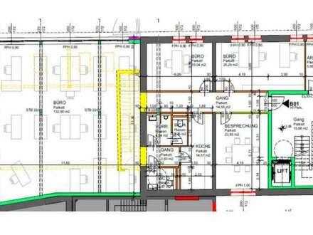 NEUE BÜROS - ab 250 m² bis maximal 1.250 m² - flexible Größen möglich