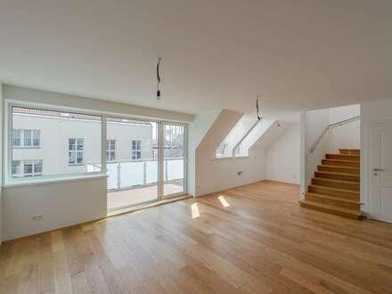 ++VIDEOBESICHTIGUNG++ Fantastische 4-Zimmer DG-Maisonette, sehr gute Raumaufteilung, mit Balkon u. 2 Terrassen!