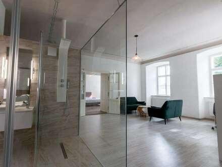 Luxus Wohnung mit Desing-Glas-Bad