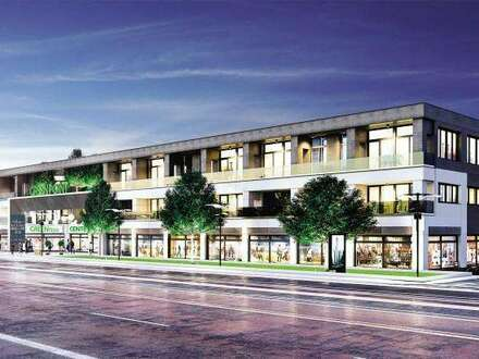Geschäftsflächen in einem modernen Wohn- und Einkaufszentrum zu vermieten