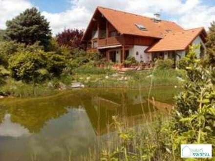 B Gumpoldskirchen - Top Ein bzw. Mehrfamilienhaus in mit großem Garten , 2 Garagen , Schwimmteich , Wintergarten und unverbautem…