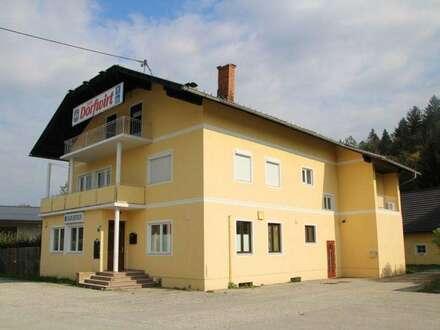 Gasthaus mit großem Wohnbereich inkl. Nebengebäude, Eisstockbahn und über 3000 m² Grund, ideal für Gastwirte, Nähe Klopeiner See