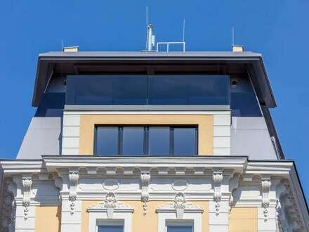 THE FLATIRON VIENNA! Außergewöhnliche Dachgeschoß-Maisonette mit Weitblick-Terrasse