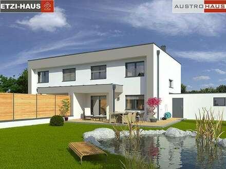 Doppelhaushälfte aus Ziegel + Grund ab € 468.769,- in BADEN
