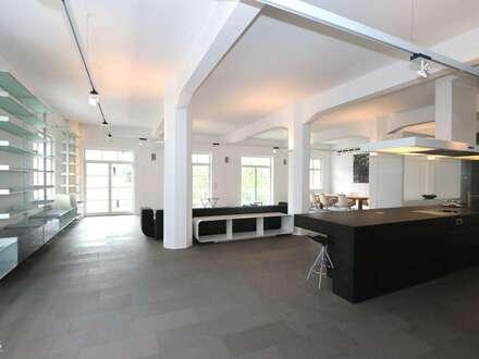 Repräsentatives Loft/Atelier für urbanes Arbeiten und Wohnen - ruhige, zentrale Südlage mit Terrasse nahe 6. Bezirk
