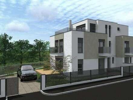 Designerhaus mit großen Terrassen am Rande des Golfplatzes mit Vollkeller! 2 Stellplätze! Belagsfertig!