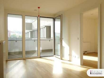 2-Zimmer-Erstbezug mit Süd-Loggia und Garage optional an der U3!