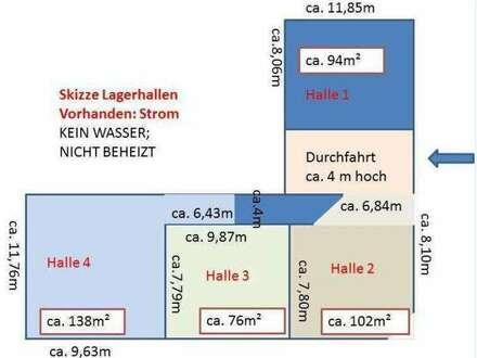 ca. 102m² Lagerhalle € 499,80