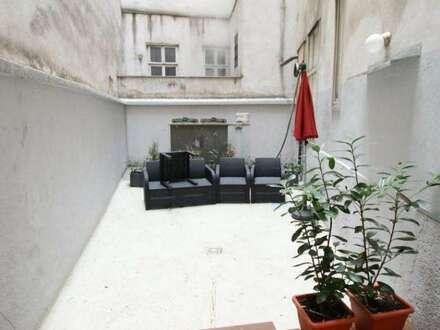 Altbau möbliert mit Innenhof TERRASSE + Küche 60m² in Topruhelage 1010 Wien